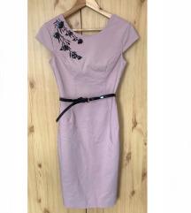 Mohito elegáns rózsaszín midi ruha