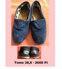 Sötétkék Toms cipő