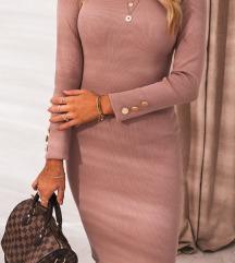 Mályva lila midi ruha