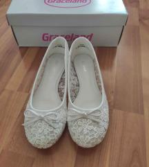 fehér csipkés balerina
