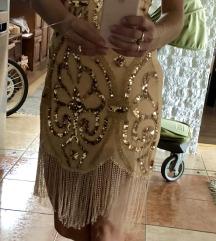 Gyönyörű flitteres alkalmi ruha 34-es új