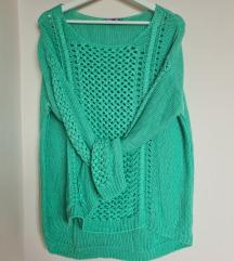 Nagyon zöld kötött oversize pulcsi