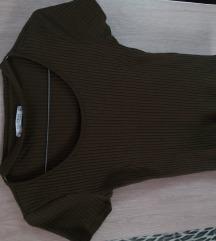 Pull&Bear khaki croptop női S