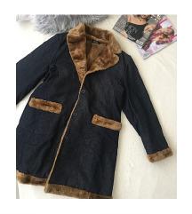 Vintage szőrmés farmer kabát