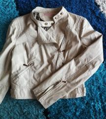 Vagány drapp műbőr dzseki