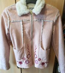 Púderrózsaszín bélelt kabát (gyermek)