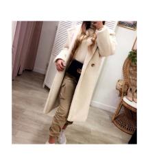 Fehér teddy coat