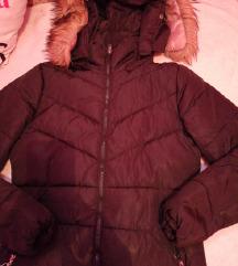 Fekete téli kabát masnival