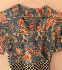 Keleti mintás átlapolós ruha