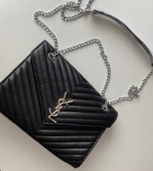 Fekete YSL táska, retikül