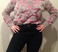 puha mintás pulóver
