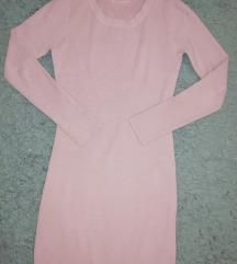 Bordázott púder rózsaszín kötött ruha S-L