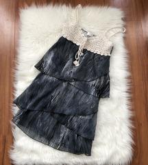 Szürkés nyári fodros ruha