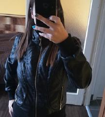 Fekete Műbőr Kabát Dzseki Pkval 5000Ft