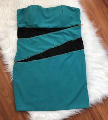Cipzáros zöld koktélruha L/XL