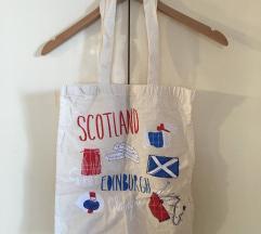 Skóciás vászontáska erős pamut füllel