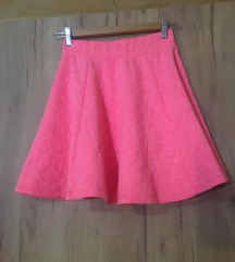 Neon rózsaszín skater szoknya