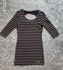 Reserved fekete csíkos miniruha/tunika