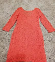 Csipkés pink ruha