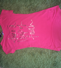 Új pink póló s-m méret
