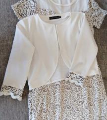 Fehér-bézs alkalmi ruha boleróval