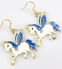Szárnyas Unicorn fülbevaló