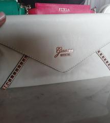 Fehér eredeti Guess clutch táska