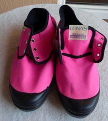 Neonrózsaszín vászoncipő (újszerű)