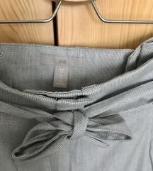 H&M szürke paper bag nadrág