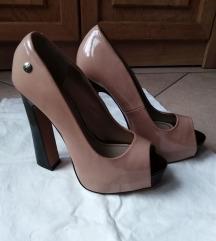 Platform magassarkú cipő, nude (halvány rózsaszín)