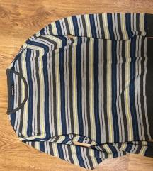 Csíkos kötött férfi pulcsi