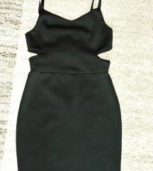 Fishbone fekete, pántos ruha, oldalt kivágott