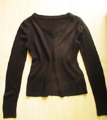 Fekete, kötött pulóver, S