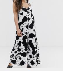 Asos cow print jumpsuit 32