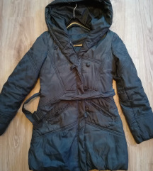 Amisu szürke hosszított téli kabát
