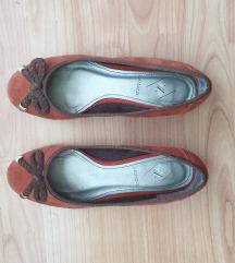 Velúr bőr balerina cipő