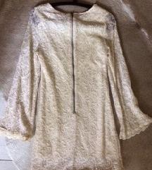 Antikolt hatású pamut csipke ruha/ tunika