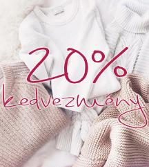 20% kedvezmény a megjelölt termékeim árából!