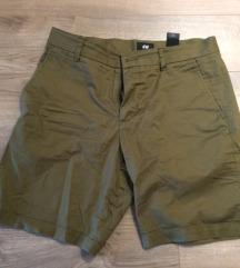 H&M fiú férfi keki zöld rövidnadrág 48