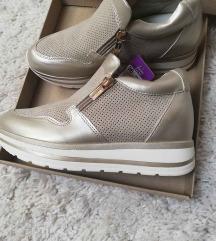 ÚJ! Bézs/arany platform cipő 36