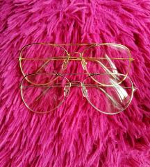<b> Ezüst/arany dioptria nélküli szemüveg </b>