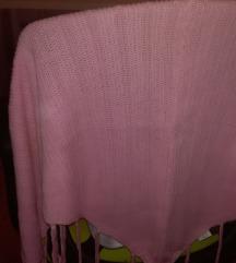 rózsaszín nyári poncsó- nem használt