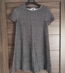 Zara Trafaluc TRF ruha tunika fekete fehér S