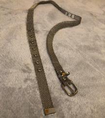 Bershka ezüst színű fém öv 109 cm