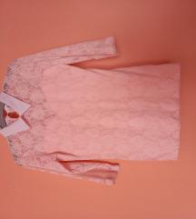 Csipkés, rózsaszín blúz