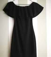 Alkalmi fodros fekete ruha