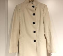 Fehér téli szövet kabát