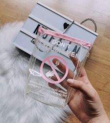 Designer egyedi átlátszó táska Új 🌸