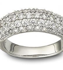 Új eredeti Swarovski gyűrű köves 52-es