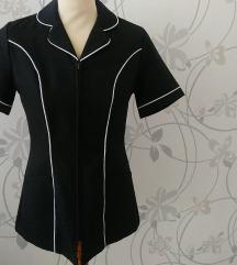 Vintage rövidujjú fekete blézer